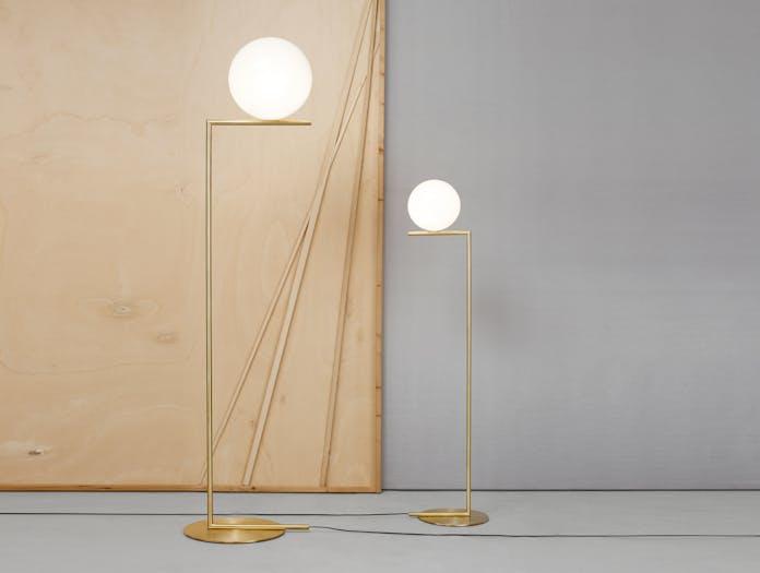 Flos Ic Floor Lights Brass Michael Anastassiades