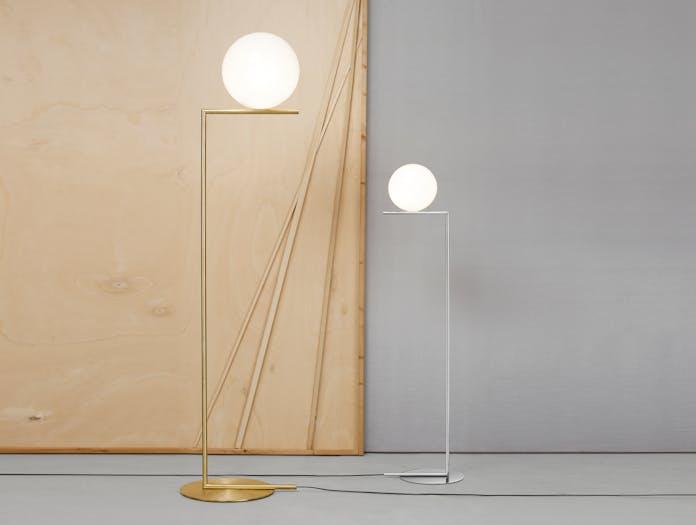 Flos Ic Floor Lights Brass Chrome Michael Anastassiades