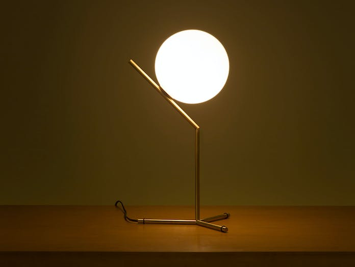 Flos Ic T1 High Table Light Brass 3 Michael Anastassiades