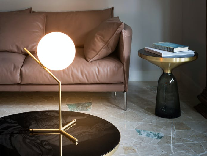 Flos Ic T1 High Table Light Brass 4 Michael Anastassiades
