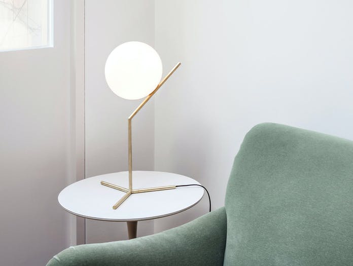 Flos Ic T1 High Table Light Brass 5 Michael Anastassiades