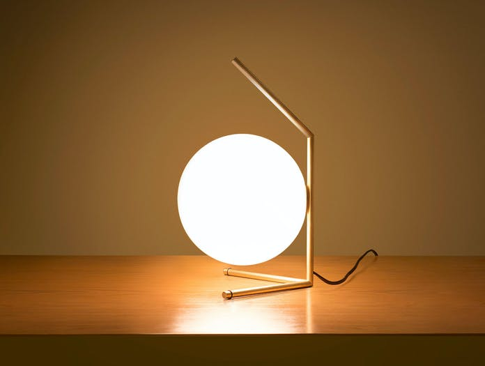 Flos Ic T1 Low Table Light Brass 2 Michael Anastassiades