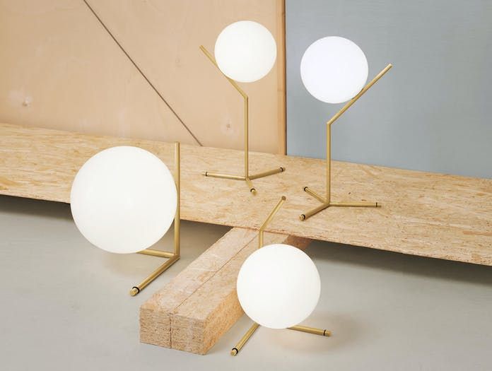 Flos Ic Table Lights Brass Michael Anastassiades