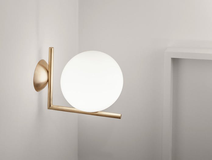 Flos Ic Wall Light Brass Michael Anastassiades