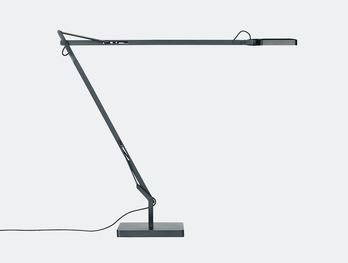 Flos Kelvin Led Desk Lamp Anthracite Side Antonio Citterio And Toan Nguyen