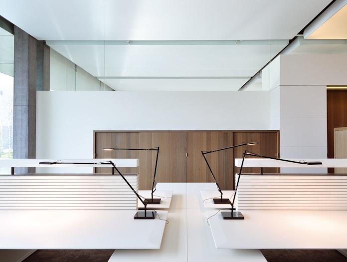 Flos Kelvin Led Desk Lamp Black Office Antonio Citterio And Toan Nguyen