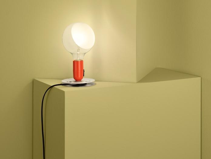 Flos Lampadina Table Light Orange 2 Achille Castiglioni