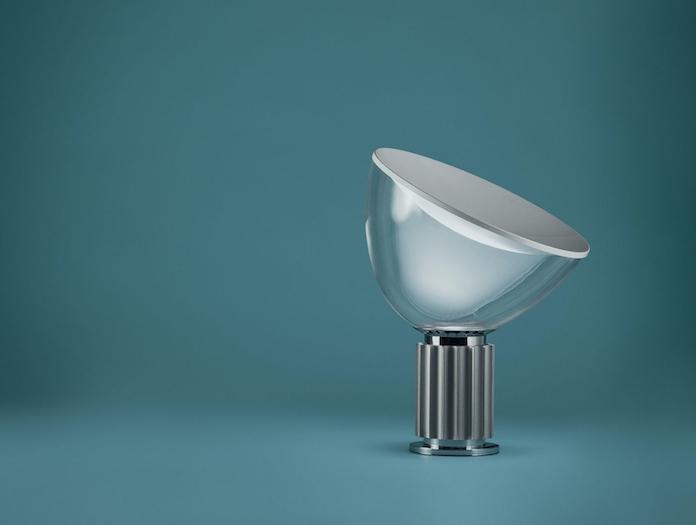 Flos Taccia Table Lamp Anodized Silver Achille Pier Giacomo Castiglioni