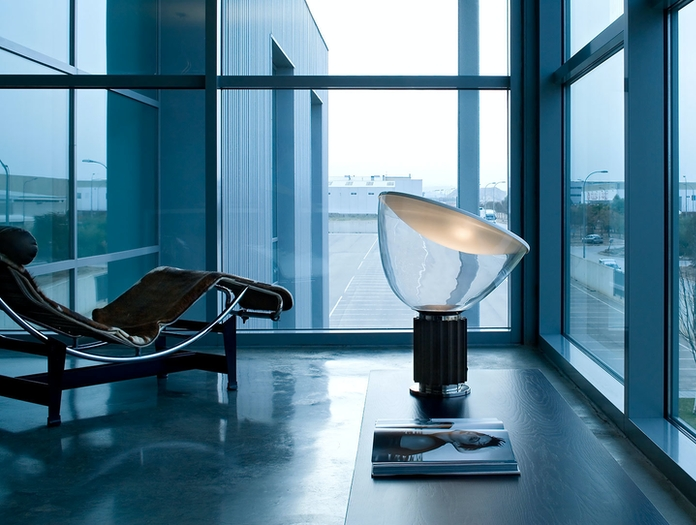 Flos Taccia Table Lamp Large Black Achille Pier Giacomo Castiglioni