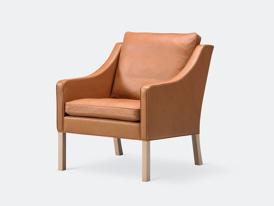 Fredericia 2207 Lounge Chair Oak Borge Mogensen