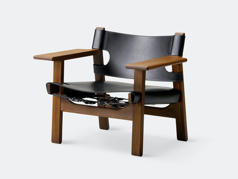 Fredericia Spanish Chair Sm Oak Black Borge Mogensen