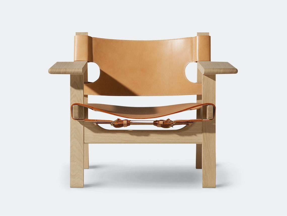 Fredericia Spanish Chair Soaped Oak Nat Leather Borge Mogensen