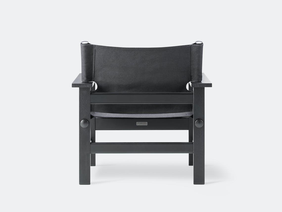 Fredericia canvas chair black 2