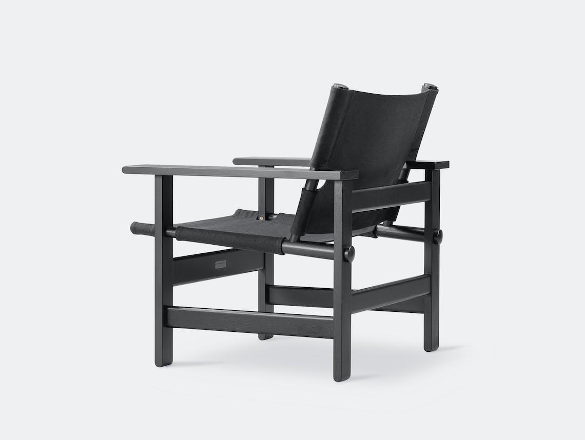 Fredericia canvas chair black 3