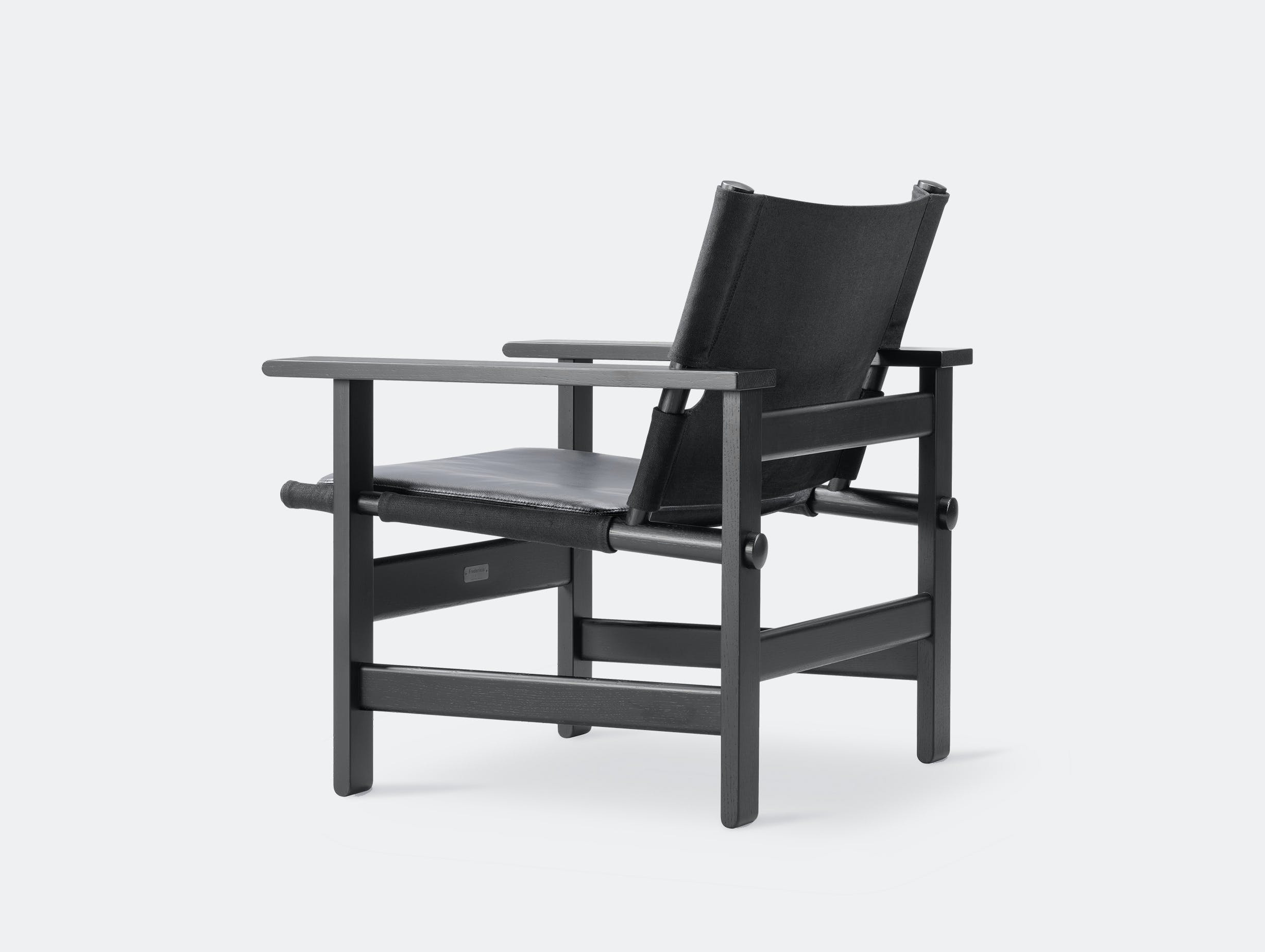 Fredericia canvas chair black leather pad 4