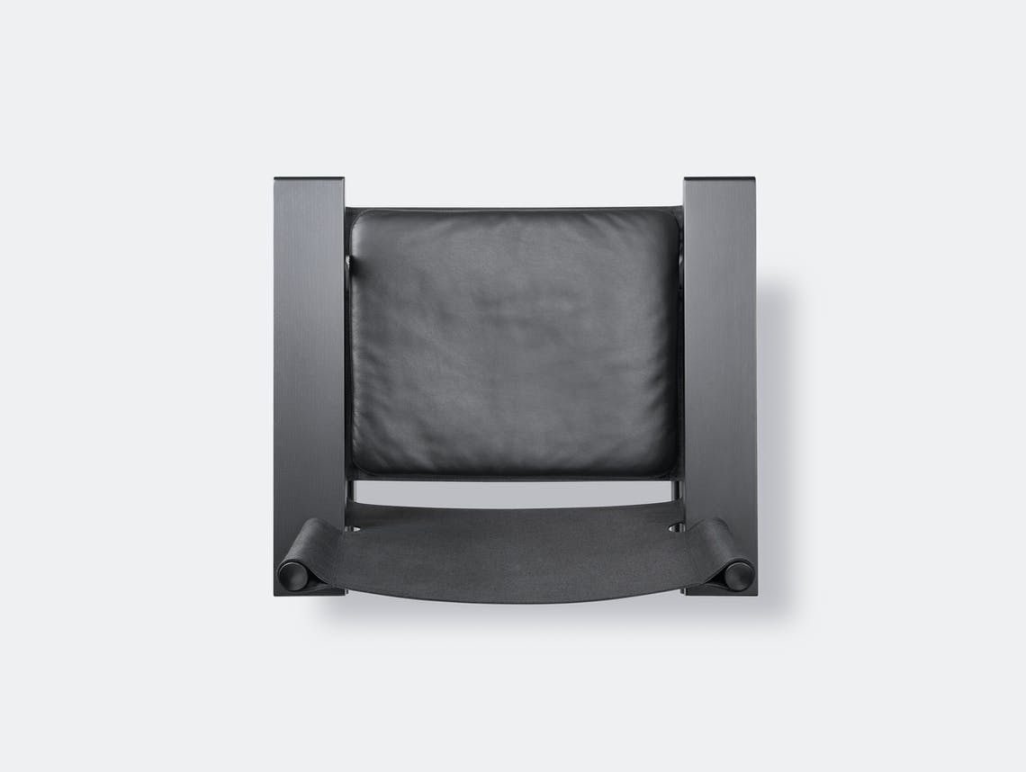 Fredericia canvas chair black leather pad 5