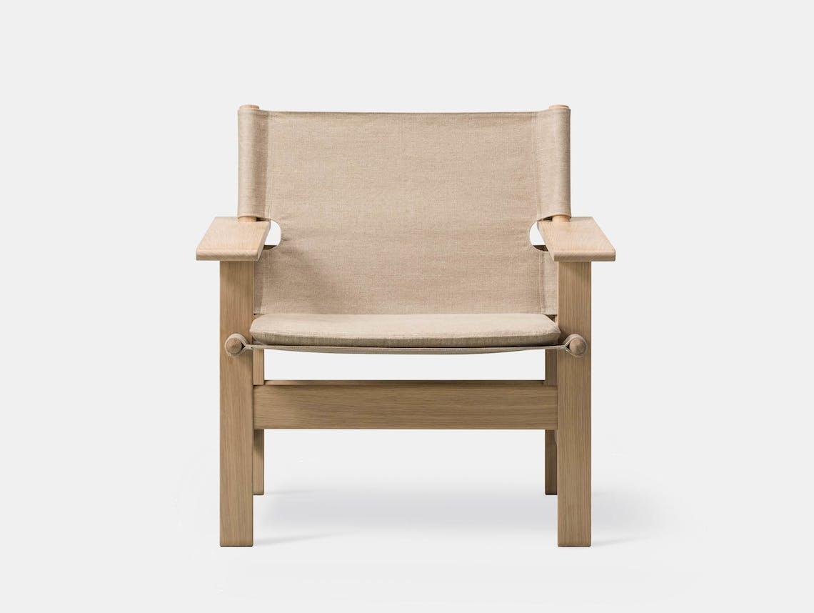 Fredericia canvas chair natural