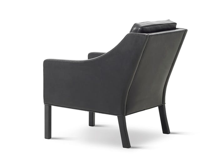 Fredericia 2207 Lounge Chair Black Back Borge Mogensen