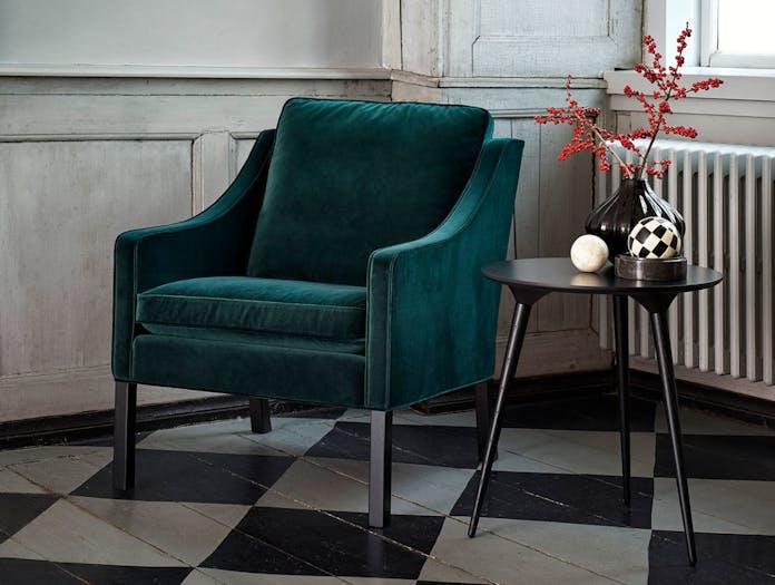 Fredericia 2207 Lounge Chair Velvet Borge Mogensen