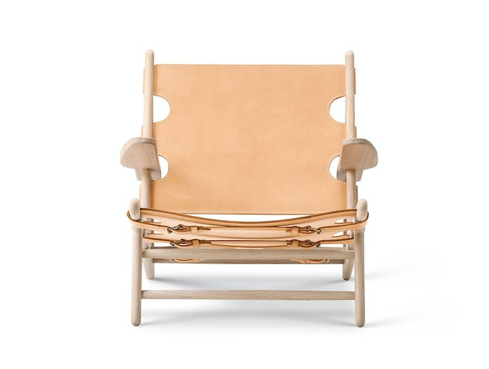 Fredericia Hunting Chair Natural Front Borge Mogensen
