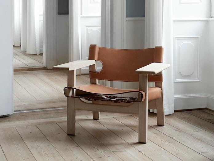 Fredericia Spanish Chair Soaped Oak Nat Leather 2 Borge Mogensen