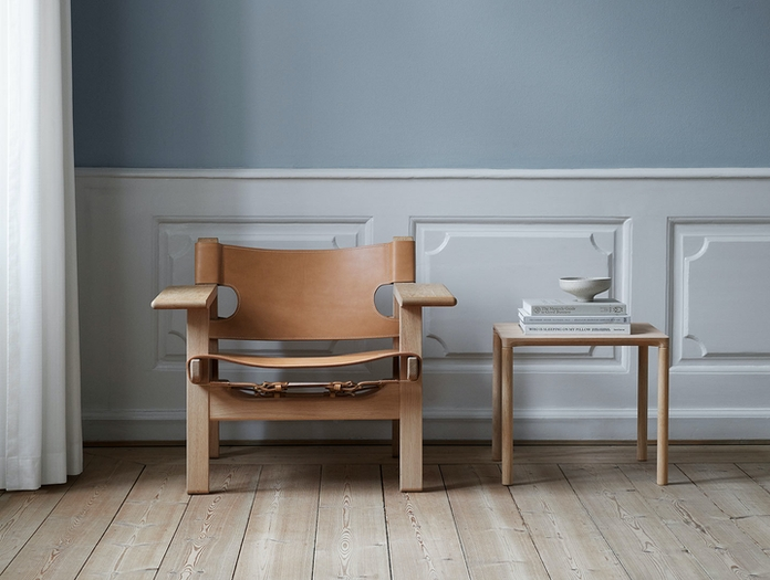 Fredericia Spanish Chair Soaped Oak Nat Leather 3 Borge Mogensen