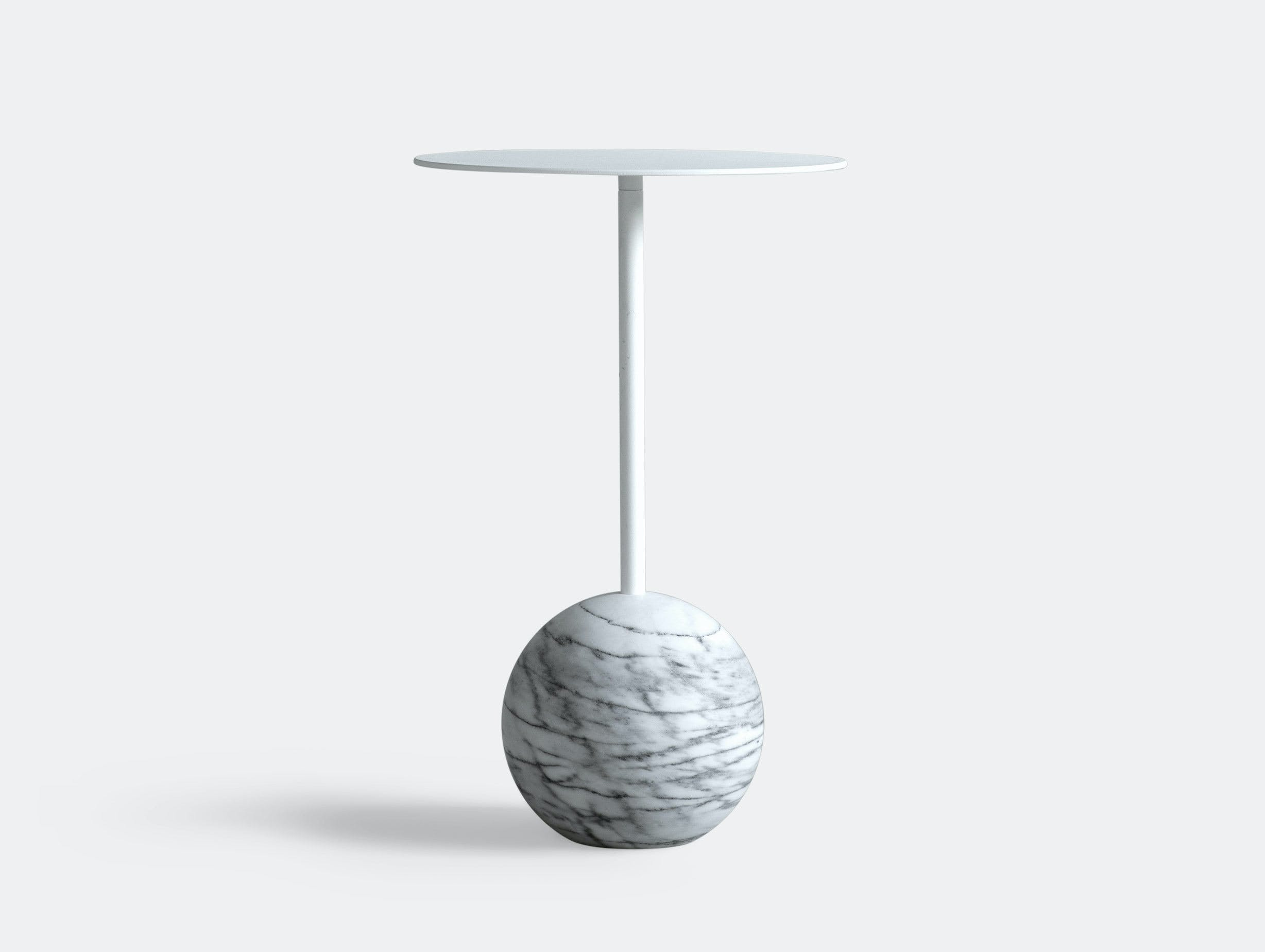 Friends Founders Knockout Side Table Round White Ida Linea Hildebrand
