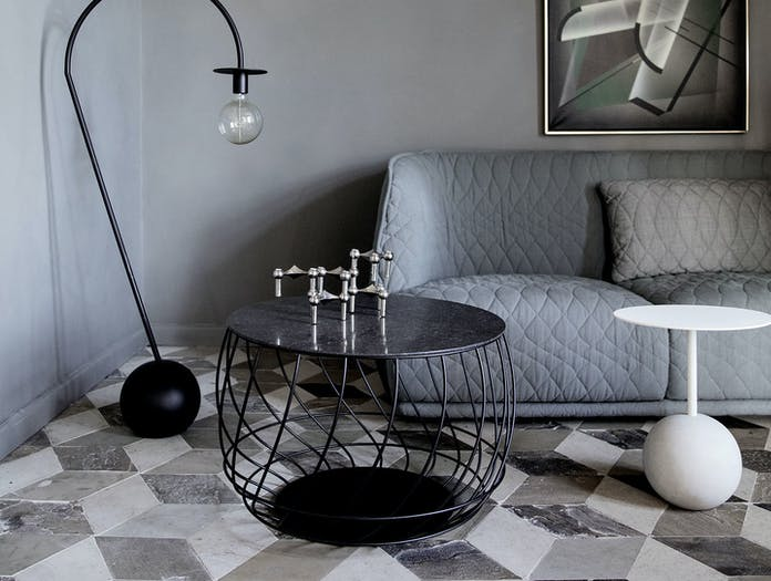 Friends Founders Spin Coffee Table Black Marble 2 Ida Linea Hildebrand