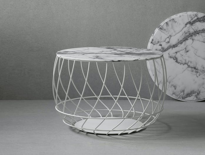 Friends Founders Spin Coffee Table White Marble 2 Ida Linea Hildebrand