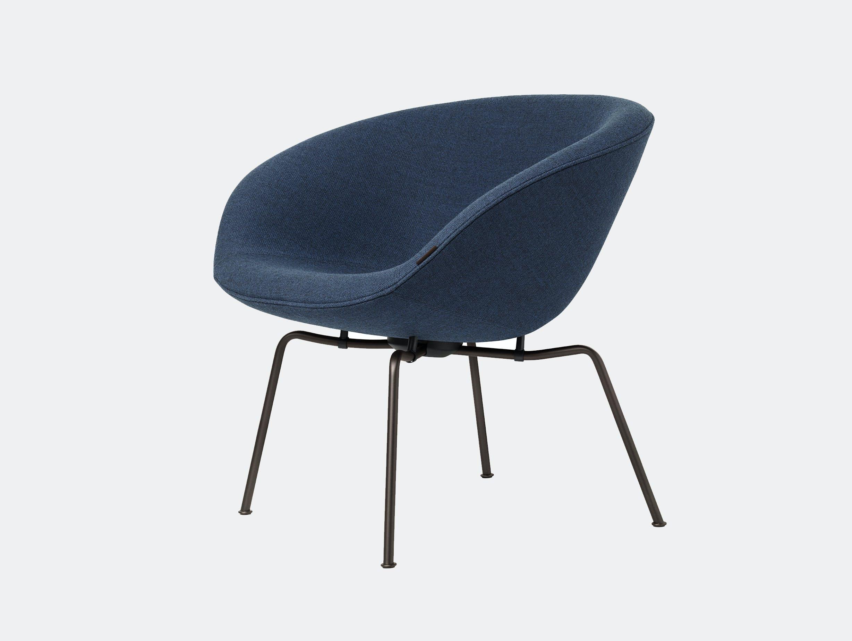 Fritz Hansen Pot Lounge Chair Blue