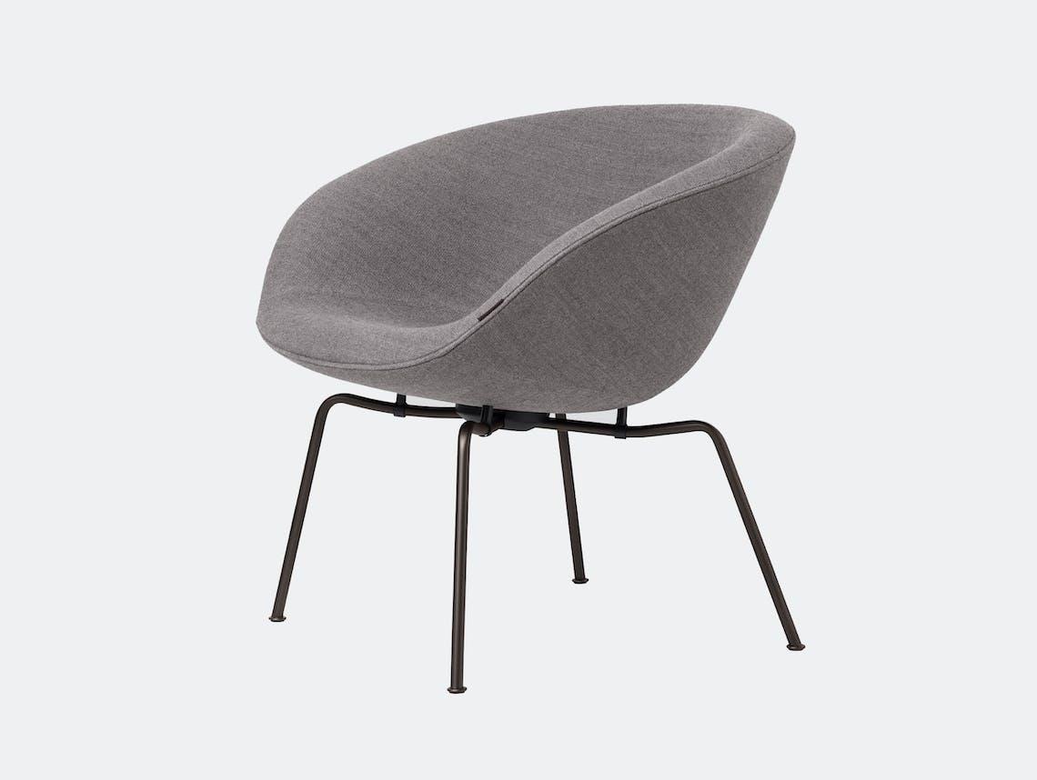 Fritz Hansen Pot Lounge Chair Grey