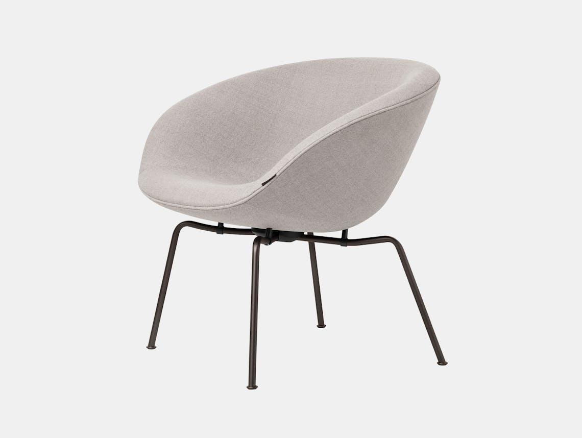 Fritz Hansen Pot Lounge Chair Light Grey