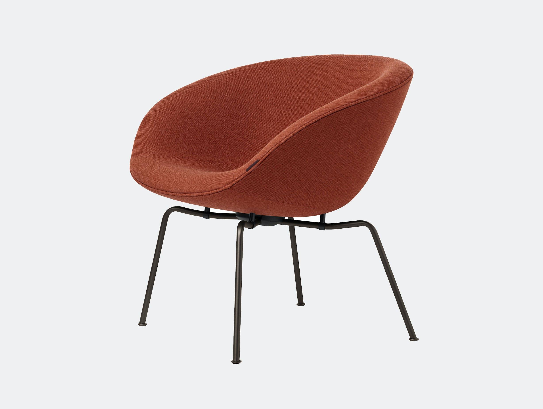 Fritz Hansen Pot Lounge Chair Orange