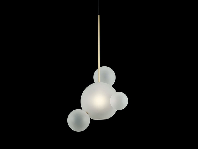 Giopato And Coombes Bolle Pendant Light 4 Frosted