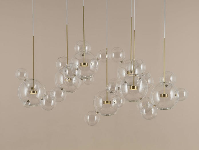 Giopato And Coombes Bolle Pendant Light Cluster