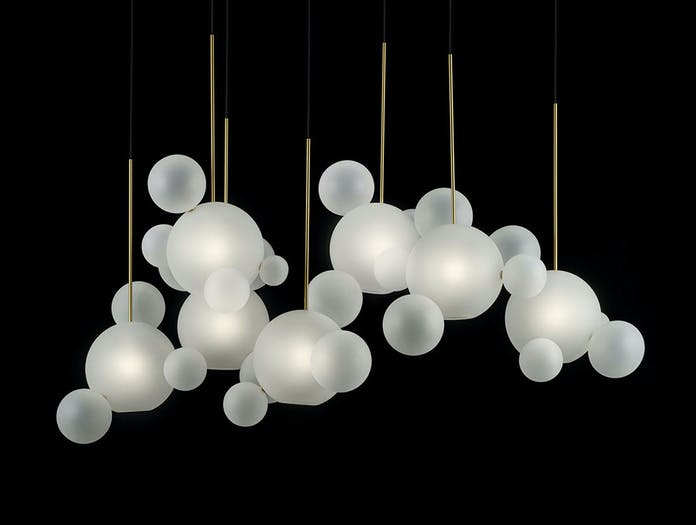 Giopato And Coombes Bolle Pendant Light Frosted Cluster