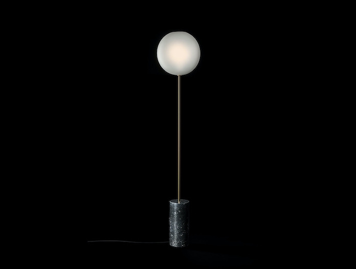 Giopato And Coombes Bolle Soffio Floor Light Frosted