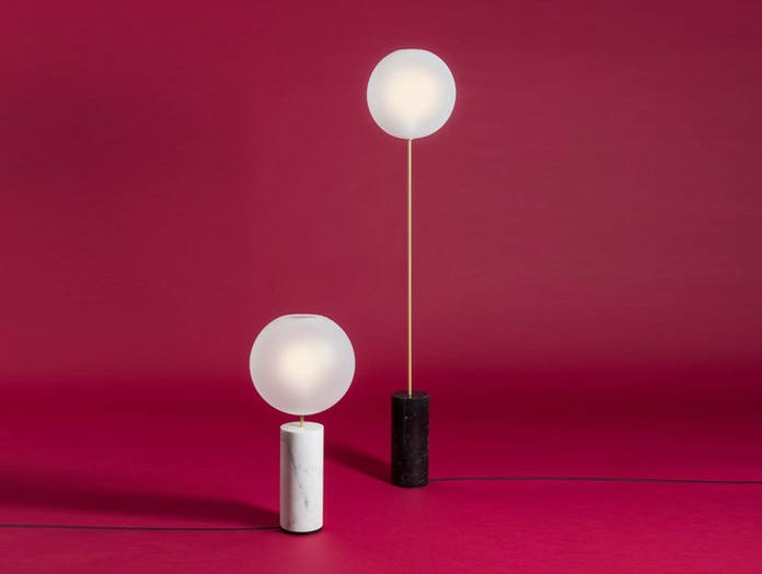 Giopato And Coombes Bolle Soffio Floor And Table Light