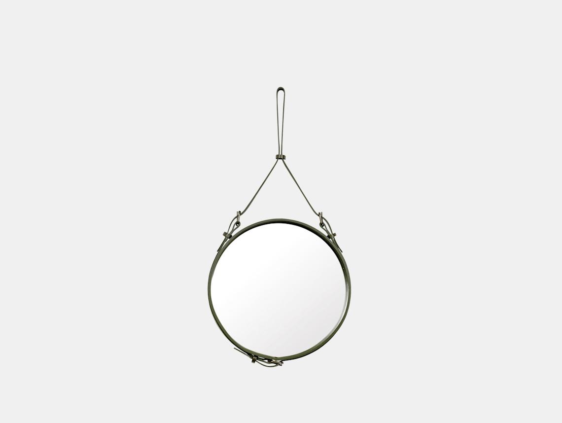 Gubi Adnet Circular Wall Mirror 45 Olive Jacques Adnet