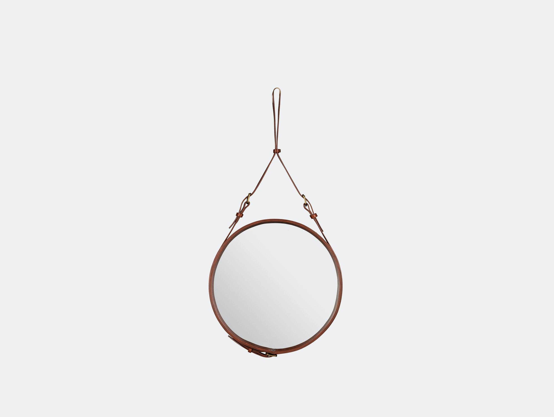 Gubi Adnet Circular Wall Mirror 45 Tan Jacques Adnet