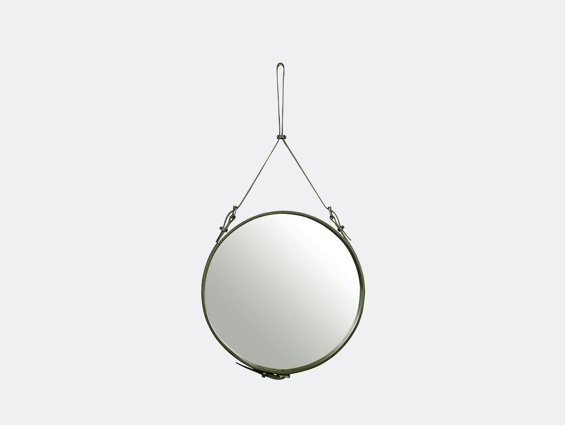 Gubi Adnet Circular Wall Mirror 58 Olive Jacques Adnet