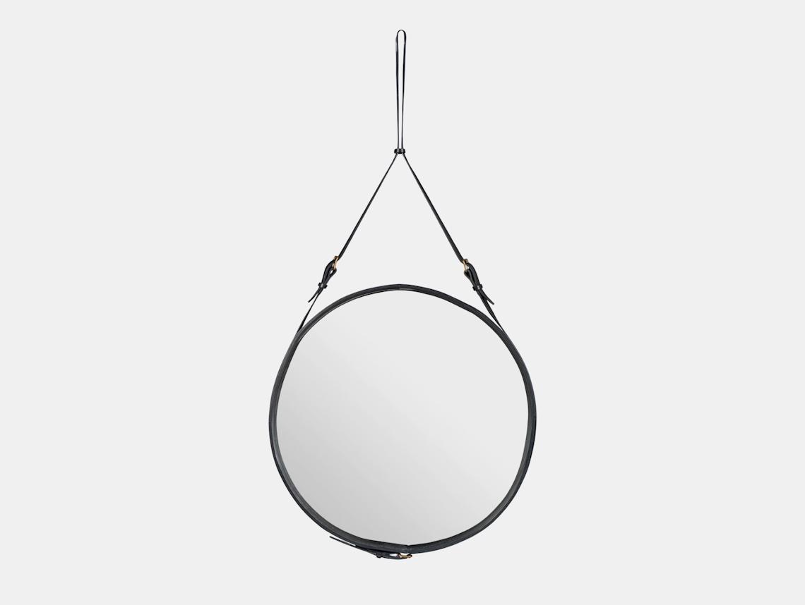 Gubi Adnet Circular Wall Mirror 70 Black Jacques Adnet