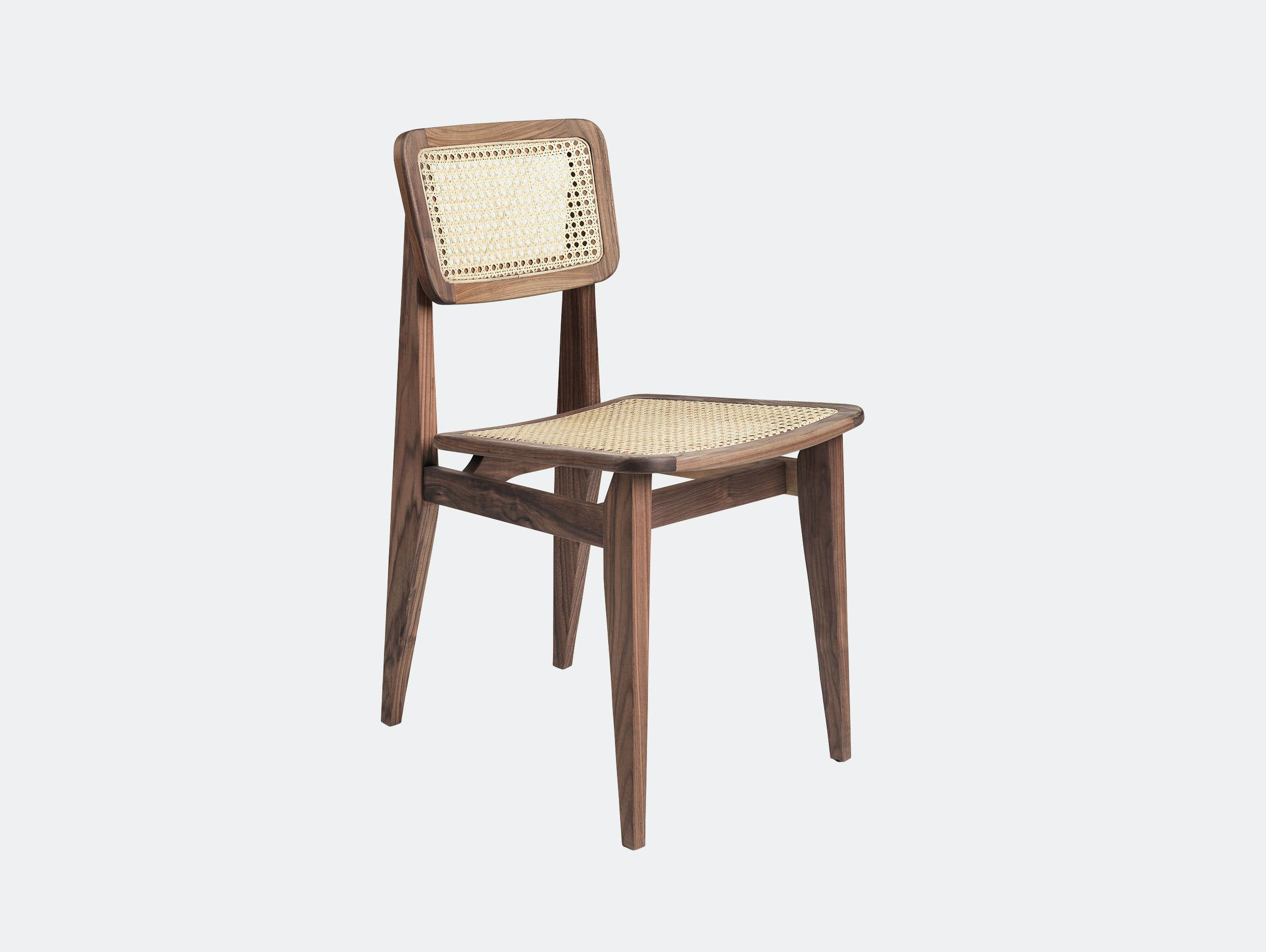 Gubi C Chair Dining Chair walnut cane Marcel Gascoin