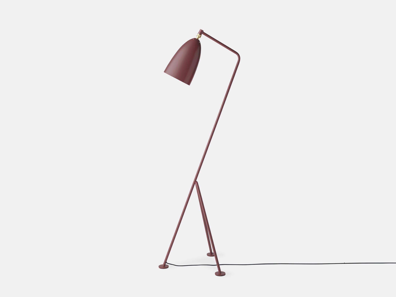Gubi Grasshopper Floor Lamp andorra red Greta Grossman