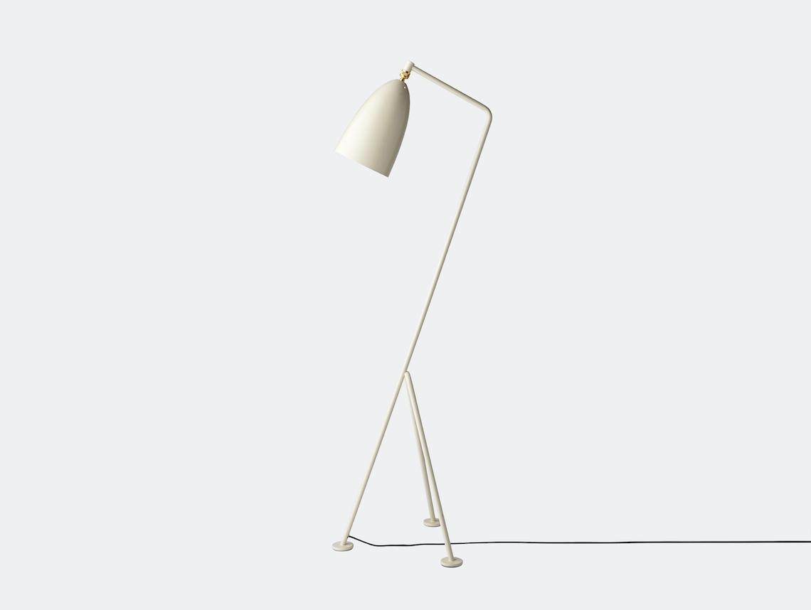 Gubi Grasshopper Floor Lamp oyster white Greta Grossman