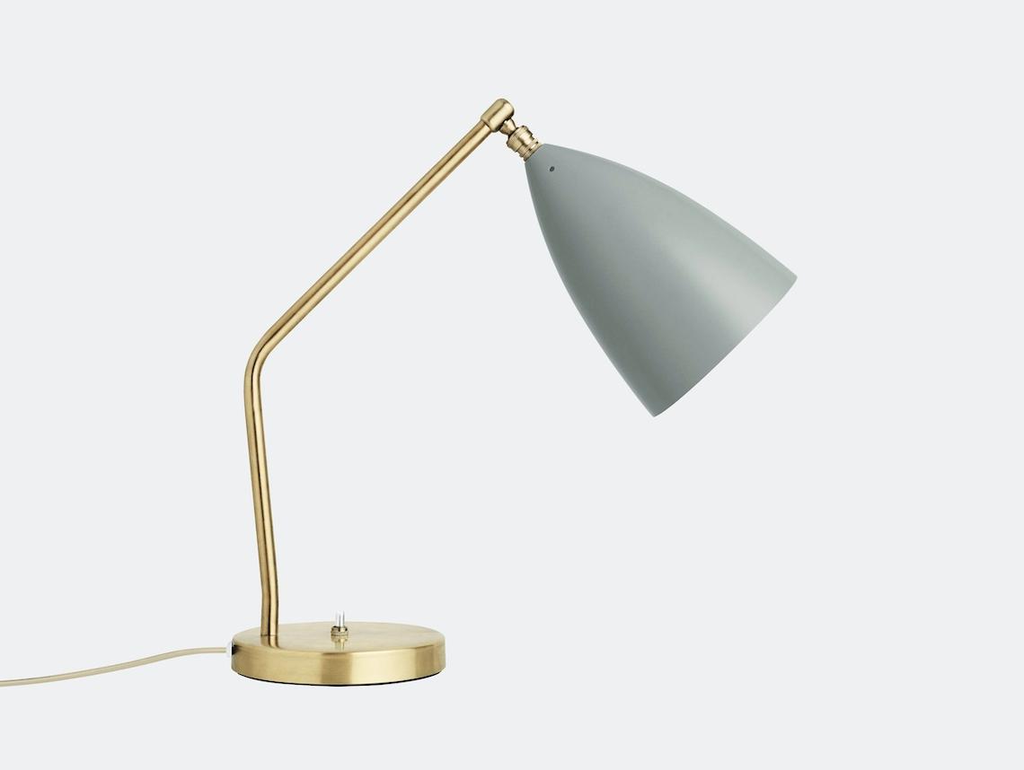 Gubi Grasshopper Table Lamp Blue Grey Greta Grossman