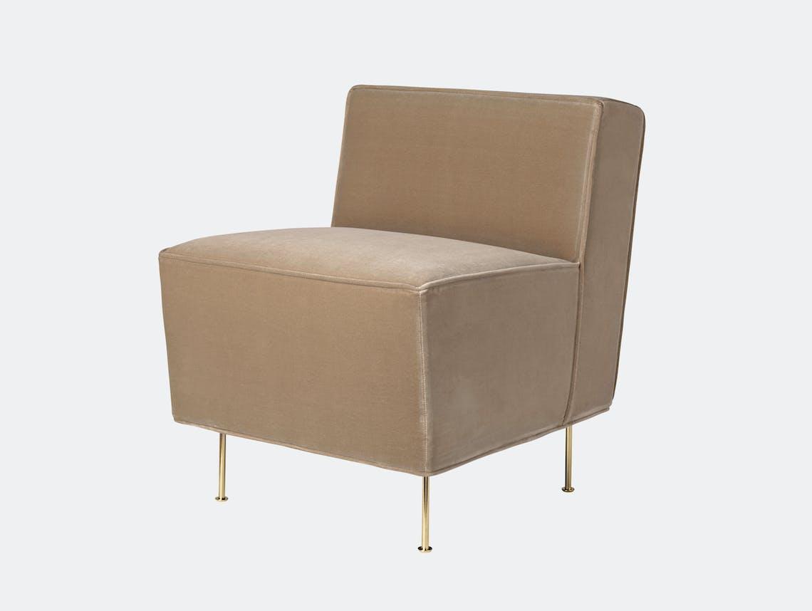 Gubi Modern Line Dining Height Lounge Chair Greta Grossman