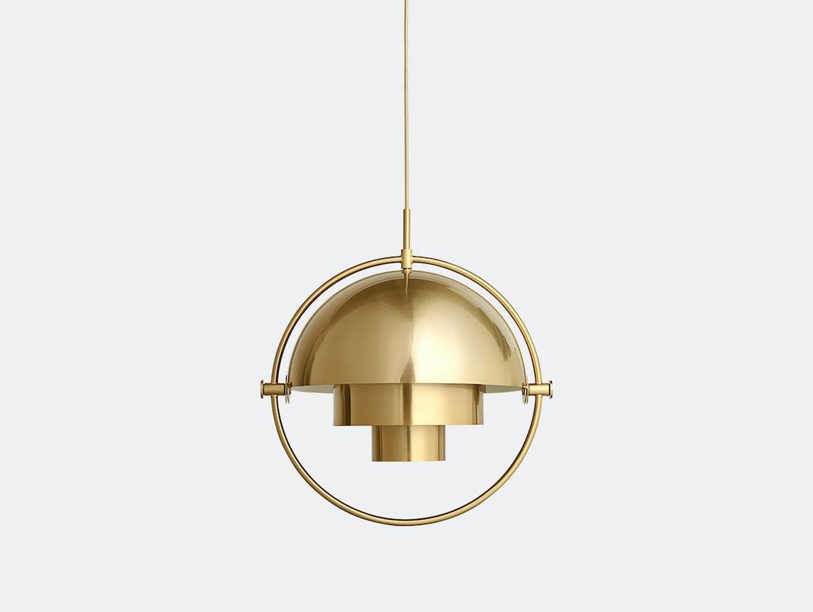 Gubi Multi Lite Pendant Light Brass Louis Weisdorf