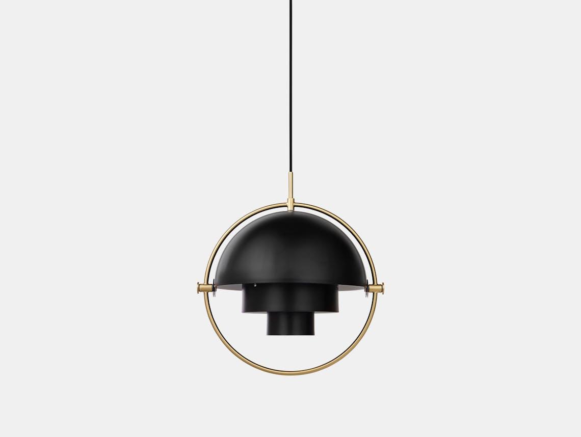 Gubi Multi Lite Pendant Light Brass Black Louis Weisdorf