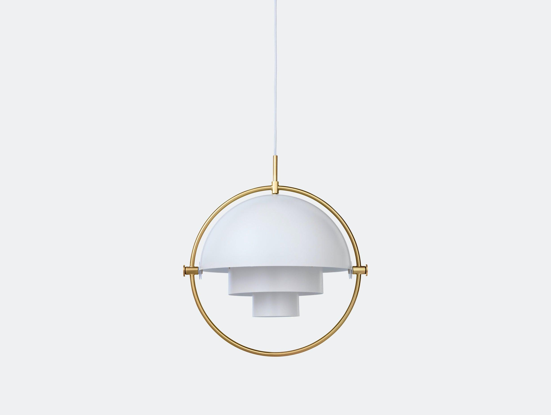 Gubi Multi Lite Pendant Light Brass White Louis Weisdorf
